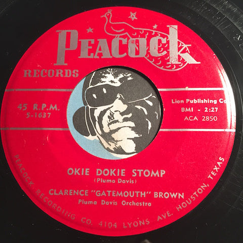 Clarence Gatemouth Brown - Okie Dokie Stomp b/w Depression Blues - Peacock #1637 - Blues - R&B Instrumental