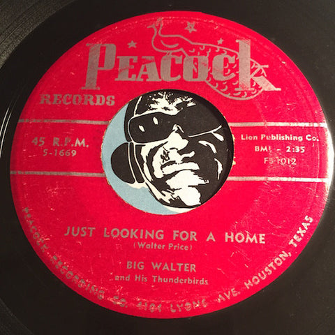 Big Walter - Just Looking For A Home b/w You're The One I Need - Peacock #1669 - Blues - R&B Blues