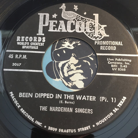 Hardeman Singers - Been Dipped In The Water pt.1 b/w pt.2 - Peacock #3067 - Gospel Soul