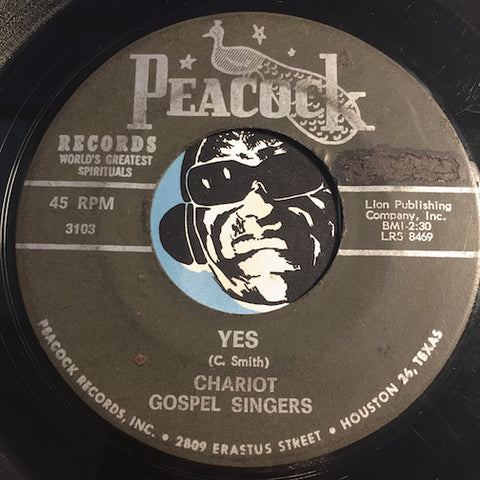 Chariot Gospel Singers - Living On Mother's Prayer b/w Yes - Peacock #3103 - Gospel Soul