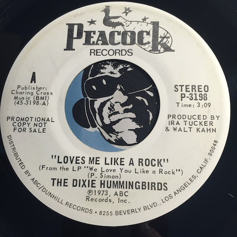 Dixie Hummingbirds - Loves Me Like A Rock b/w same - Peacock #3190 - Gospel Soul