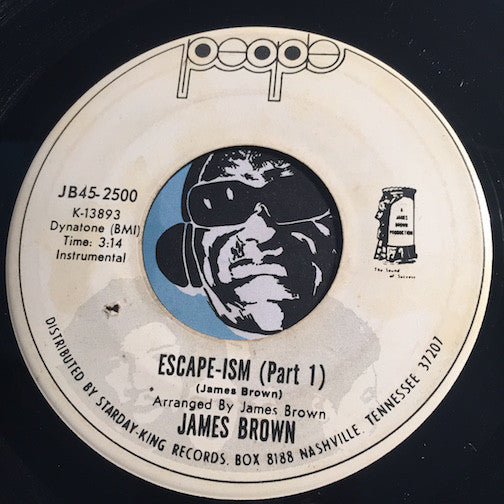 James Brown - Escape-Ism pt.1 b/w pt.2 & pt.3 - People #2500 - Funk