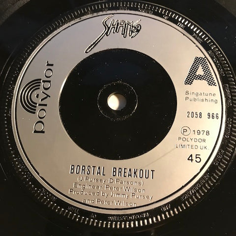 Sham 69 - Borstal Breakout b/w Hey Little Rich Boy - Polydor #2058 966 - Punk