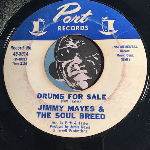 Jimmy Mayes & Soul Breed - Drums For Sale b/w Pluckin - Port #3014 - Funk -  R&B Instrumental
