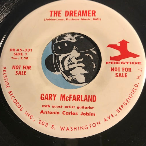 Gary McFarland with Antonio Carlos Jobim - The Dreamer b/w Rivergirl - Prestige #331 - Latin Jazz