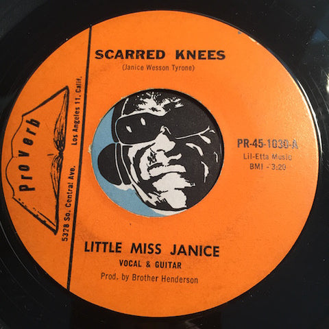 Little Miss Janice - Scarred Knees b/w Won't Be Back - Proverb #1030 - Gospel Soul - R&B