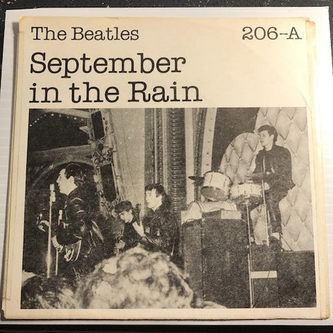 Beatles - September In The Rain b/w Sheik Of Araby - Pye #206 - Rock n Roll