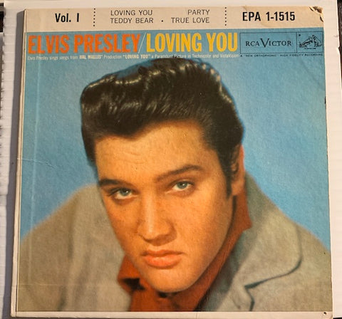 Elvis Presley - Loving You EP - Loving You - Party b/w Teddy Bear - True Love - RCA Victor #1515 - Rock n Roll