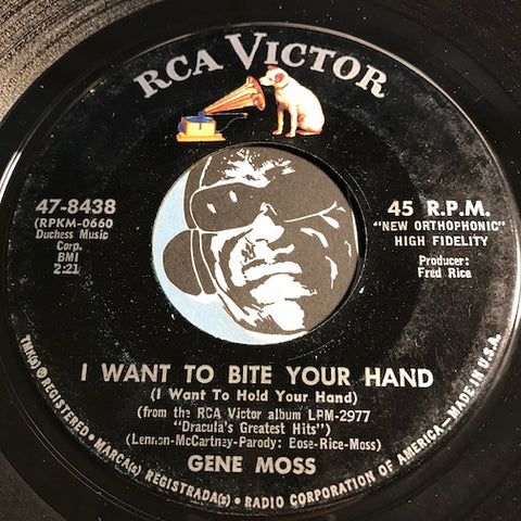 Gene Moss - I Want To Bite Your Hand (I Want To Hold Your Hand) b/w Ghoul Days (School Days) - RCA Victor #8438 - Rock n Roll - Christmas / Holiday