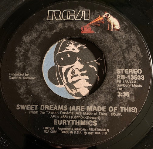 Eurythmics - Sweet Dreams (Are Made Of This) b/w I Could Give You (A Mirror) - RCA #13533 - 80's / 90's / 2000's