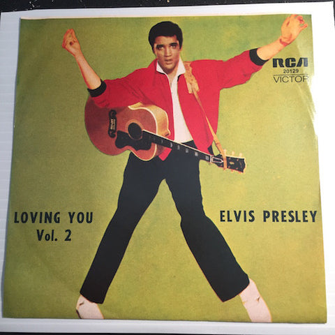 Elvis Presley Loving You Vol. 2 EP - Lonesome Cowboy - Hot Dog b/w Mean Woman Blues - Got A Lot O' Livin To Do - RCA #20129 - Rock n Roll