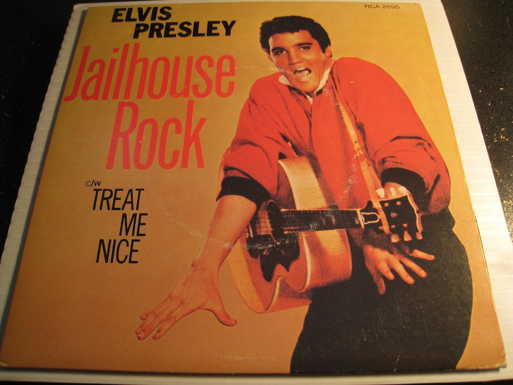 Elvis Presley - Jailhouse Rock b/w Treat Me Nice - Victor #2695 - Canadian press - picture sleeve - Rock n Roll
