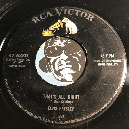 Elvis Presley - That's All Right b/w Blue Moon Of Kentucky - RCA Victor #6380 - Rock n Roll - Rockabilly