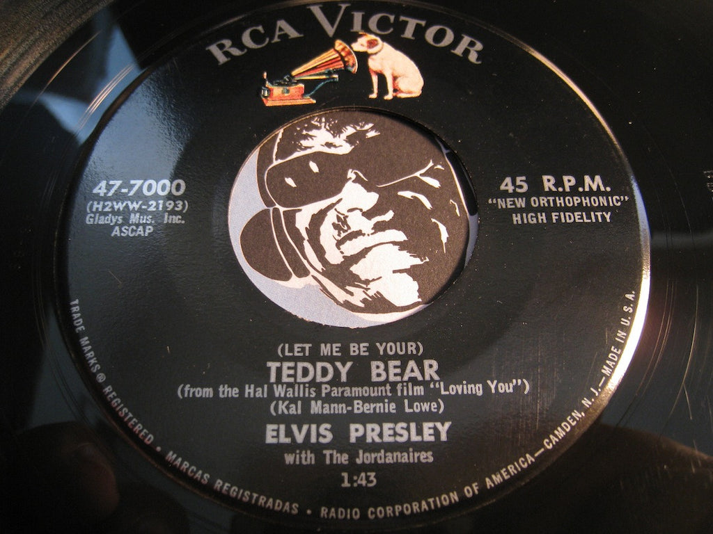 Elvis Presley - (Let Me Be Your) Teddy Bear b/w Loving You - RCA Victor #7000 - Rock n Roll