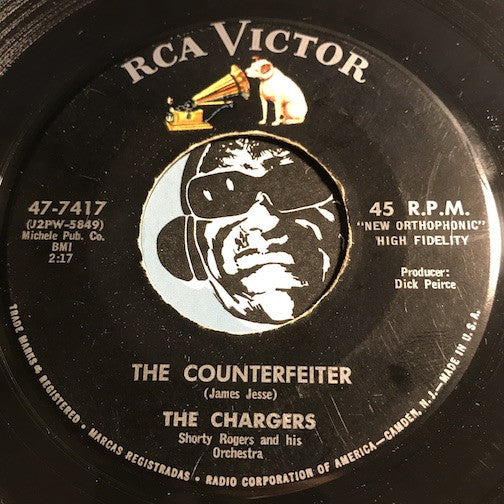Chargers - The Counterfeiter b/w Here In My Heart - RCA Victor #7417 - Doowop