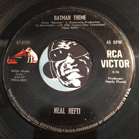 Neal Hefti - Batman Theme b/w Batman Chase - RCA Victor #8755 - Jazz Mod - Rock n Roll