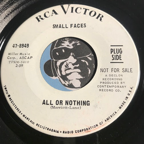 Small Faces - All Or Nothing b/w Understanding - RCA Victor #8949 - Psych Rock