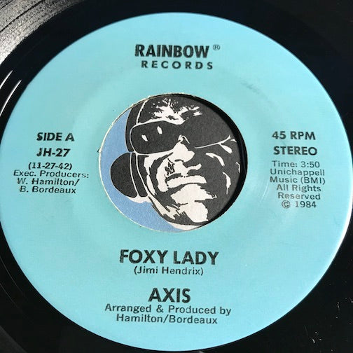 Axis - Foxy Lady b/w Silver Satin - Rainbow #27 - Funk Disco