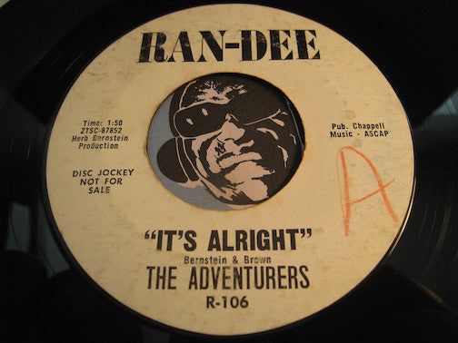 Adventurers - I Don't Mind b/w It's Alright - Ran-Dee #106 - R&B Soul - Doowop