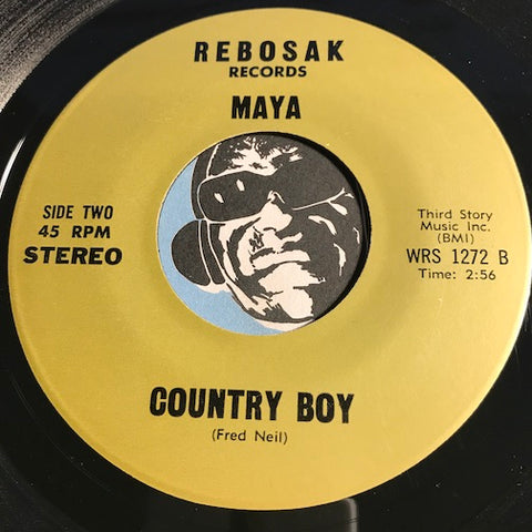 Maya - Country Boy b/w Seasons - Rebosak #1272 - Psych Rock