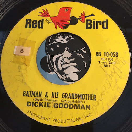 Dickie Goodman - Batman & His Grandmother b/w Suspense - Red Bird #10-058 - Novelty