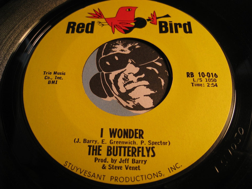 Butterflys - Gee Baby Gee b/w I Wonder - Red Bird #10016 - Girl Group