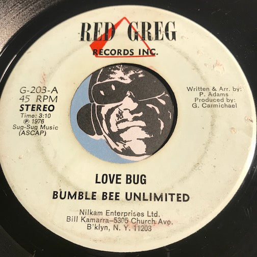 Bumble Bee Unlimited - Love Bug pt.1 b/w pt.2 - Red Greg #203 - Funk Disco