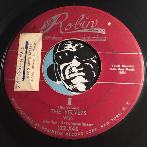 Velvets - I b/w At Last - Red Robin #122 - Doowop