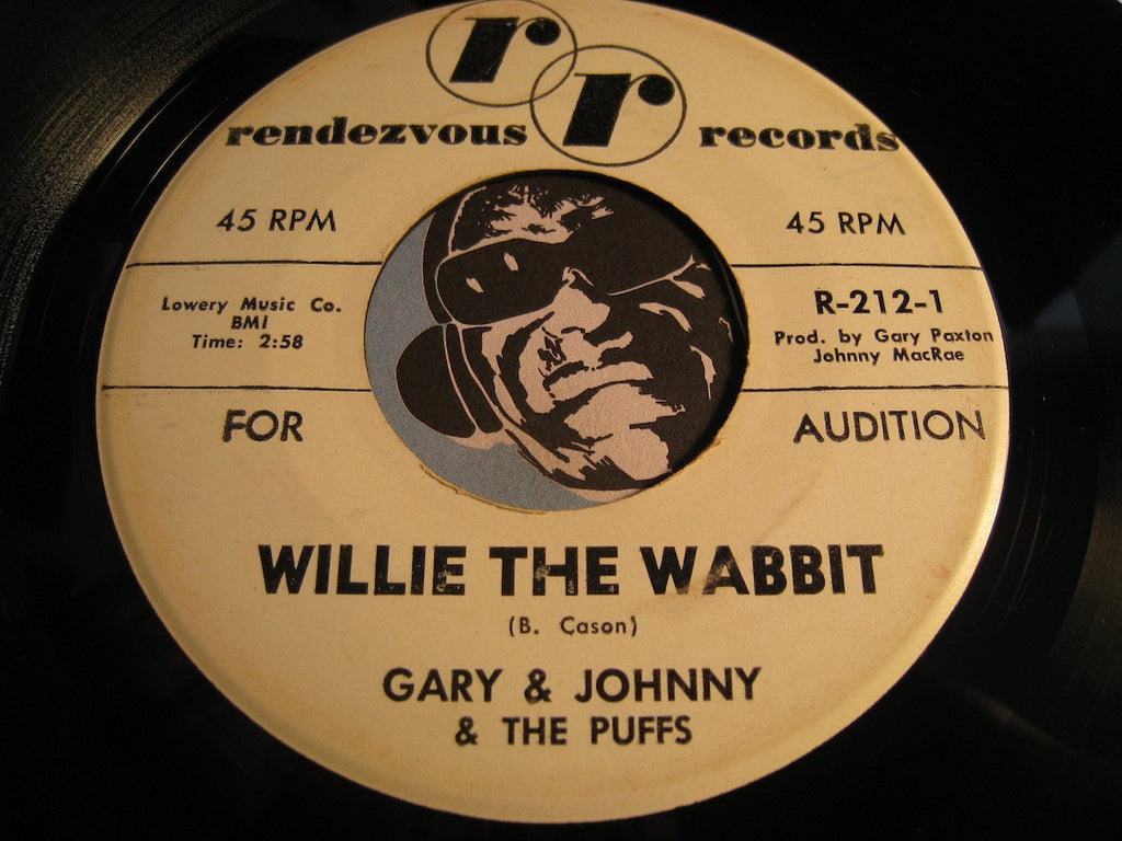 Gary & Johnny & The Puffs - Willie The Wabbit pt.1 b/w pt.2 - Rendezvous #212 - Rock n Roll