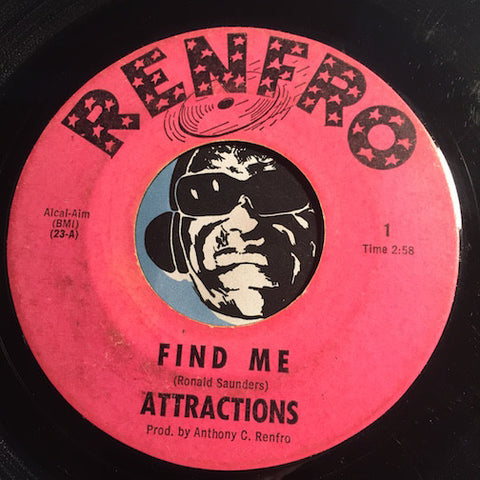 Attractions - Find me b/w Destination You - Renfro #1 - Northern Soul