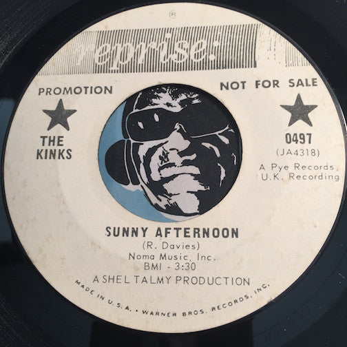 Kinks - Sunny Afternoon b/w I'm Not Like Everybody Else - Reprise #0497 - Psych Rock