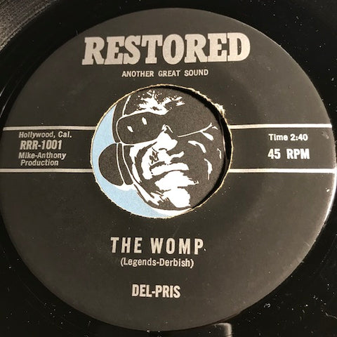 Del Pris - The Womp b/w The Time - Restored #1001 - Doowop Reissues