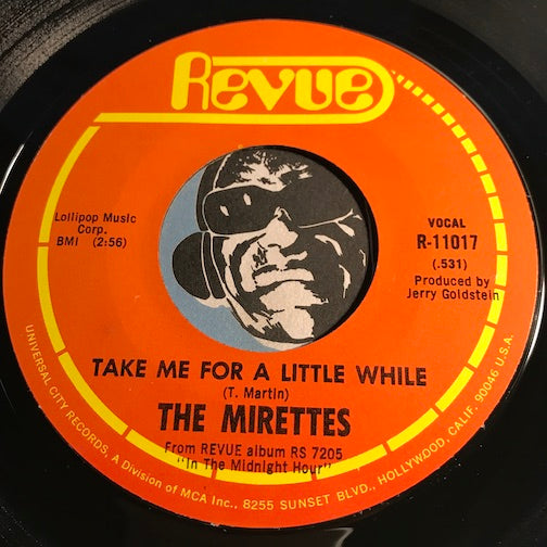 Mirettes - The Real Thing b/w Take Me For A Little While - Revue #11017 - Northern Soul