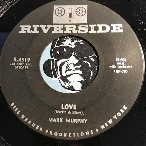 Mark Murphy - Love b/w Come And Get Me - Riverside #4519 - Jazz Mod