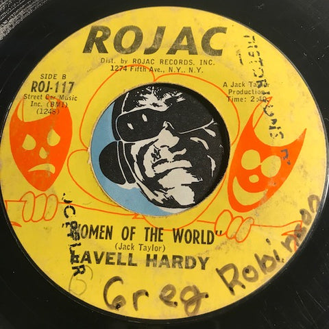 Lavell Hardy - Women Of The World b/w Don't Lose Your Groove - Rojac #117 - Funk - Northern Soul