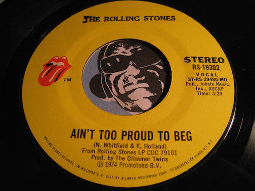 Rolling Stones - Ain't Too Proud To Beg b/w Dance Little Sister - Rolling Stones #19302 - Rock n Roll