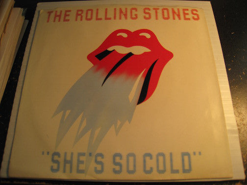 Rolling Stones - She's So Cold b/w Send It To Me - Rolling Stones #21001 - picture sleeve - Rock n Roll