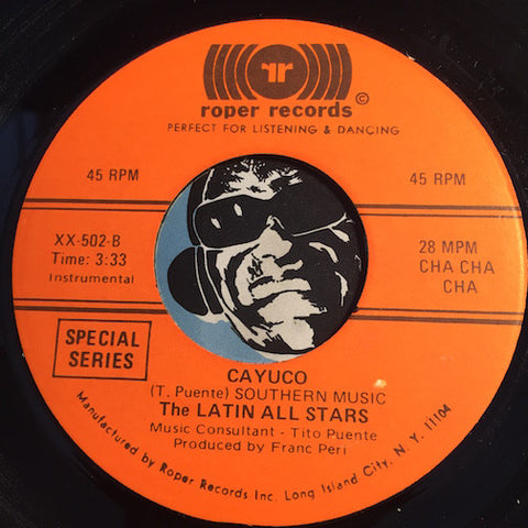 Latin All Stars - Cayuco b/w Tea For Two - Roper #502 - Latin