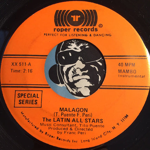 Latin All Stars - Malagon b/w Presente - Roper #511 - Latin