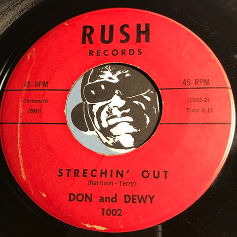 Don and Dewey - Soul Motion b/w Strechin Out - Rush # 1002 - R&B Blues
