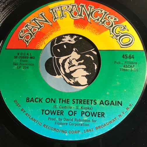 Tower Of Power - Back On The Streets Again b/w Sparkling In The Sand - San Francisco #64 - Funk - Soul