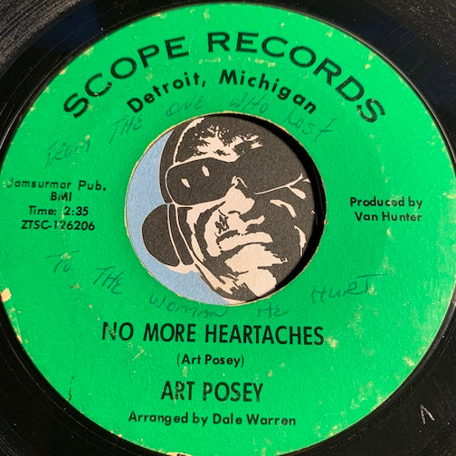 Art Posey - No More Heartaches b/w Nothing Takes The Place Of You - Scope #126206 - Northern Soul