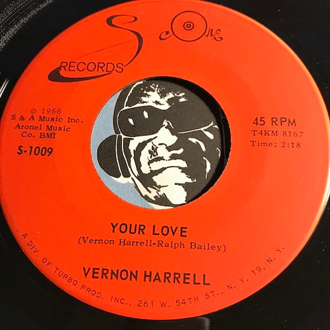 Vernon Harrell - Your Love b/w Daisy Daisy - Score #1009 - R&B Soul