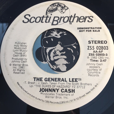 Johnny Cash - The General Lee b/w same - Scotti Brothers #02803 - Country