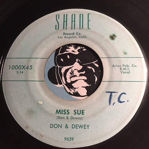 Don & Dewey - Miss Sue b/w My Heart Is Aching - Shade #1000 - R&B Rocker