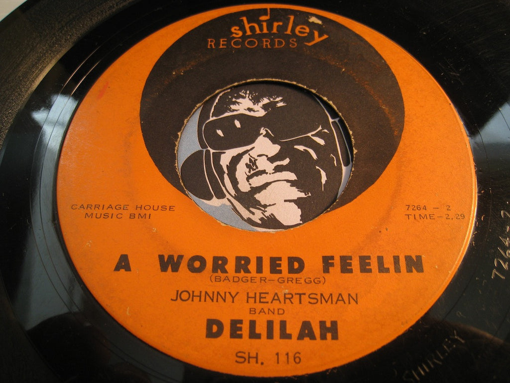 Delilah - A Worried Feelin b/w I'll Rock You Baby - Shirley #116 - R&B Soul