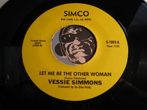 Vessie Simmons - Let Me Be The Other Woman b/w Last Mistake - Simco #1004 - Modern Soul