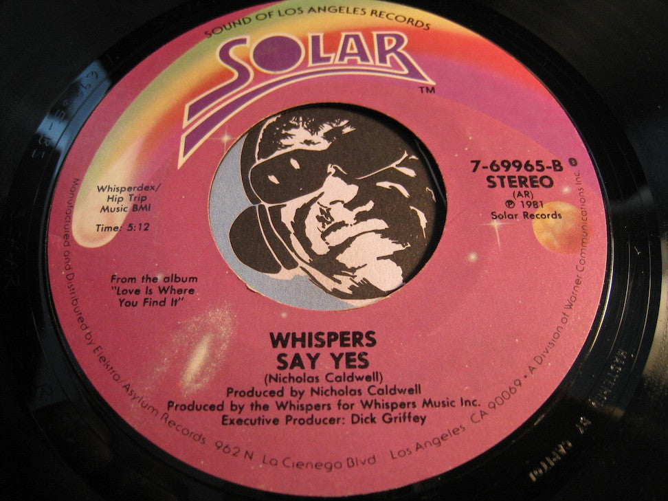 Whispers - Say Yes b/w Love Is Where You Find It - Solar #69965 - Modern Soul