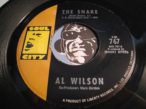 Al Wilson - The Snake b/w Getting Ready For Tomorrow - Soul City #767 - Northern Soul