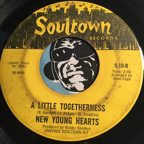 New Young Hearts - A Little Togetherness b/w Young Hearts Get Lonely Too - Soultown #10 - Northern Soul - Sweet Soul